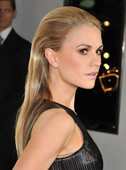 Anna Paquin's slicked back locks topped off her sleek, edgy look while attending a celebrity event in Beverly Hills.
