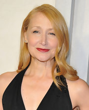 Patricia Clarkson paired red lips with her strawberry blonde locks for a classic and sophisticated look.