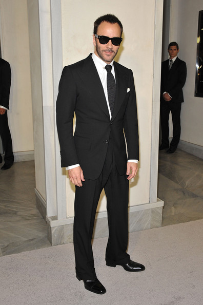 Tom Ford Men's Suit [suit,clothing,formal wear,tuxedo,blazer,fashion,white-collar worker,outerwear,eyewear,pantsuit,tom ford cocktails in support of project angel food,tom ford,support,california,beverly hills,project angel food,cocktail event]