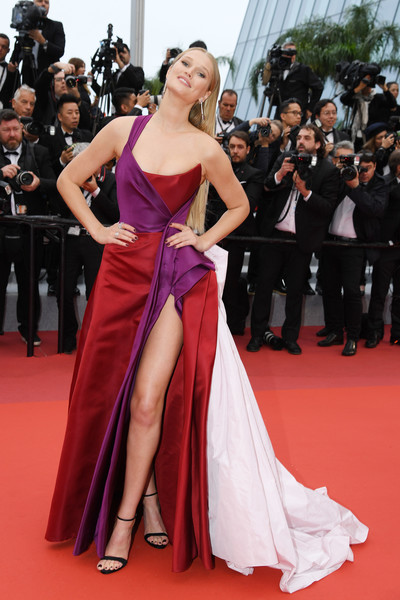 Toni Garrn Strappy Sandals [les plus belles annees dune vie,red carpet - the 72nd annual cannes film festival,red carpet,dress,fashion model,gown,carpet,clothing,shoulder,flooring,premiere,event,toni garrn,screening,cannes,france,cannes film festival on may 18]