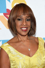Gayle King wore a bob with wispy bangs during Tony Bennett's 90th birthday celebration.