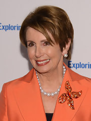 Nancy Pelosi wore a magnificent pair of South Sea Pearls that accentuated her golden complexion at the 6th Annual Exploring the Arts Gala.