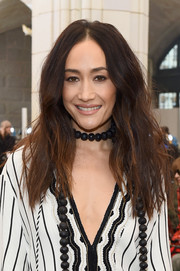 Maggie Q was rocker-glam with her teased 'do at the Tory Burch fashion show.