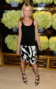 Crystal Lourd kept it breezy and casual in a black tank top during the Tory Burch Rodeo Drive opening.