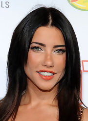 Jacqueline MacInnes Wood wore her hair sleek straight with a center part at the 2012 Icons + Idols.