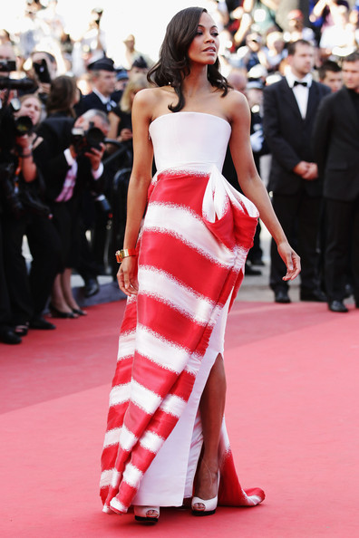 More Pics of Zoe Saldana Evening Dress (1 of 34) - Zoe Saldana Lookbook - StyleBistro