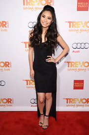 Jessica Sanchez wore this black sparkly fishtail dress to the TrevorLIVE event in NYC.