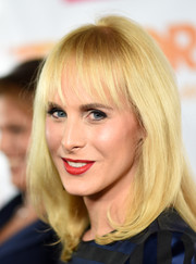 Zackary Drucker wore her glowing blonde locks straight with wispy bangs during the TrevorLIVE LA event.