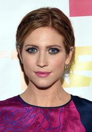 Brittany Snow styled her hair into a subtle crown braid for the TrevorLIVE LA event.
