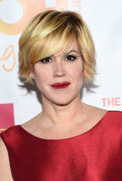 Molly Ringwald wore a trendy layered razor cut to the TrevorLIVE LA event.