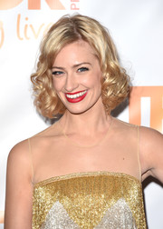 Beth Behrs looked darling with her short blonde curls at the TrevorLIVE LA event.
