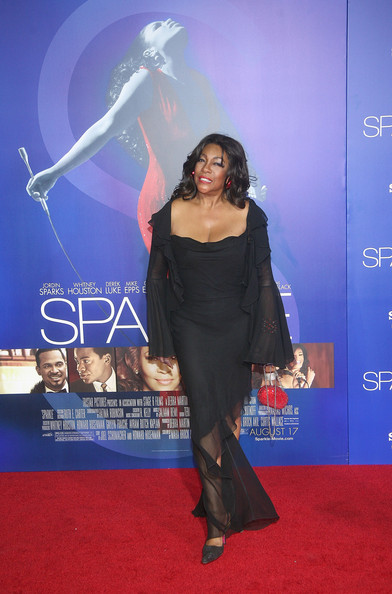 Mary Wilson in a Black Dress