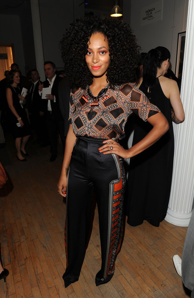 More Pics of Solange Knowles Bright Eyeshadow (2 of 5) - Solange Knowles Lookbook - StyleBistro