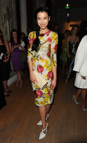We loved Michelle Kwan's playful turnip print dress at the Tribeca Ball.