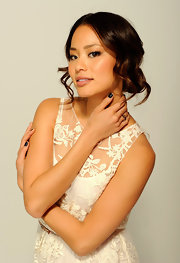 Jamie Chung attended the 2012 Tribeca Film Festival wearing her hair in an updo featuring smooth face-framing waves.