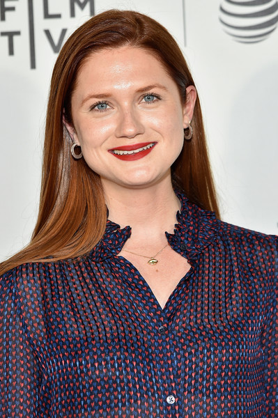 More Pics of Bonnie Wright Long Straight Cut (1 of 6) - Long Hairstyles Lookbook - StyleBistro