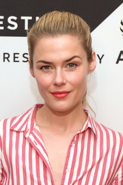 Rachael Taylor was fresh-faced with her brushed-back ponytail at the Tribeca TV Festival screening of 'Pillow Talk.'
