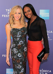 Tika Sumpter polished off her 2011 Tribeca Film Festival look with a black patent leather clutch.