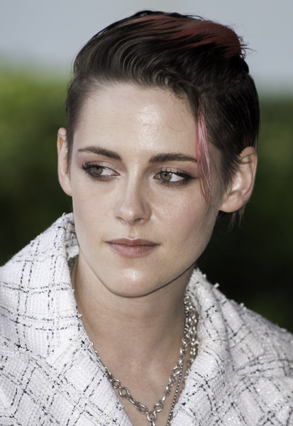 Kristen Stewart styled her short hair into a fauxhawk for the 2019 Deauville American Film Festival.
