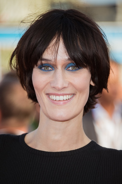 Clotilde Hesme attended the Deauville American Film Festival screening of 'Good Time' wearing her hair in a bowl cut.
