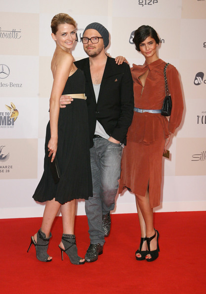 Shermine Shahrivar looked great in an orange sheer dress at the 2011 Tribute to Bambi.