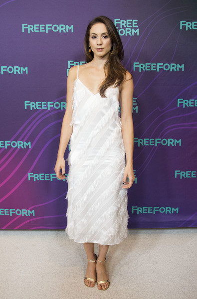 Troian Bellisario Fringed Dress