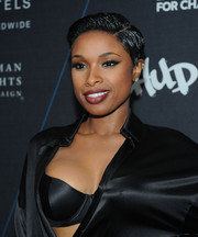 Jennifer Hudson wore her hair extremely short for the 'Turn It Up for Change' Ball.