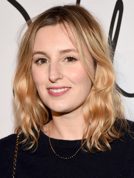 Laura Carmichael attended the Tyler Ellis 5th anniversary celebration sporting a casual wavy hairstyle.