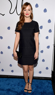 Ahna O'Reilly chose a studded little black dress for the Tyler Ellis 5th anniversary celebration.