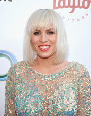 Natasha Bedingfield rocked a shaggy platinum-blonde pageboy at the UCLA Institute of the Environment and Sustainability Gala.