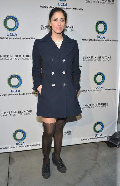 More Pics of Sarah Silverman Pea Coat (1 of 10) - Sarah Silverman Lookbook - StyleBistro