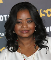 Octavia Spencer attended The Moth's Storytelling Tour wearing a sheer rich berry-tinted gloss.