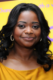Octavia Spencer wore a pair of silver crystal Henna hoop earrings during a panel discussion at the USC School of Cinematic Arts.