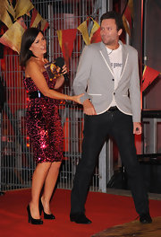 Davina McCall pulled her glittery look together with a pair of black patent leather pumps for the 'Ultimate Big Brother' final.