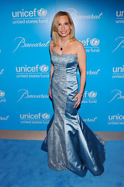 Gillian looked like a princess at the UNICEF Snowflake Ball in this icy mermaid gown.