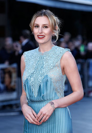 Laura Carmichael paired an Art Deco bracelet with a flapper-inspired dress for a vintage-glam vibe at the BFI London Film Festival opening night gala.