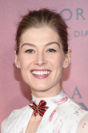 Rosamund Pike kept it fuss-free with this bun at the world premiere of 'A United Kingdom.'