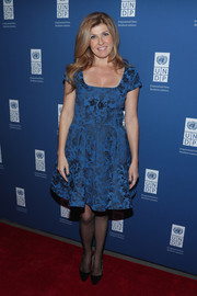 Connie Britton went the ultra-girly route in a printed fit-and-flared dress at the UNDP Inaugural Global Goals Gala.