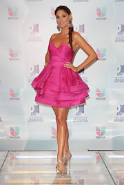 Bianca Soto looked like a perfectly frosted cupcake in this adorable hot pink cocktail dress.