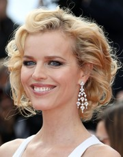 Eva Herzigova looked darling wearing this curled-out bob at the Cannes premiere of 'The Unknown Girl.'
