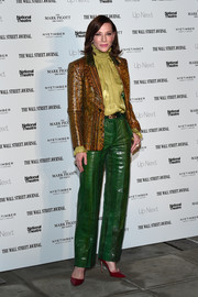 Cate Blanchett channeled the '70s in a snakeskin-print blazer by Gucci at the Up Next Gala.