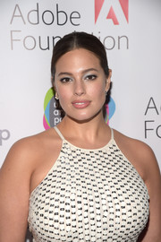 Ashley Graham opted for a no-frills center-parted ponytail when she attended the Urban Arts Partnership 25th anniversary benefit.