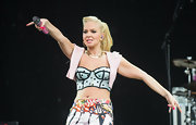 Tulisa rocked it on stage at the V Festival in an ultra-cropped polka-dot bustier top.