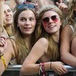 Festival Goers's Bright Face Paint