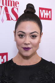 Camille Guaty wore her hair in a sleek top knot at the premiere of 'Daytime Divas.'