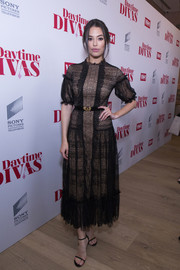 Chloe Bridges was the picture of elegance in a black Isabel Garcia lace dress with a nude underlay at the premiere of 'Daytime Divas.'