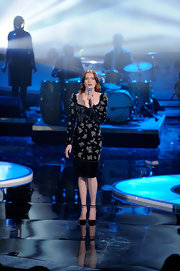 Florence Welch wore a beaded velvet long-sleeve dress for the VH1 Divas show.