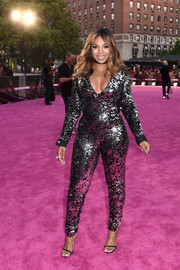 Ashanti slayed in a low-cut, sequined jumpsuit at the VH1 Hip Hop Honors.