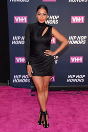 La La Anthony kept it fierce all the way down to her black Tom Ford T-strap sandals.