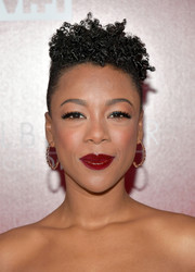 Samira Wiley looked funky with her curly fauxhawk at the VH1 Trailblazer Honors.